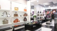 21557243 – bright and luxury european bag and jewellery store
